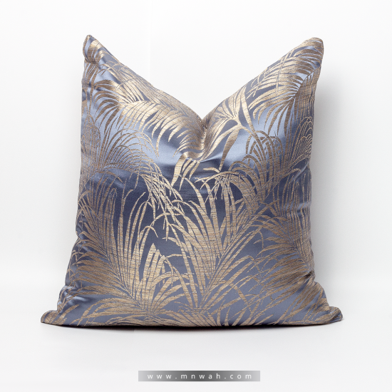 Cushion cover dark blue and gold